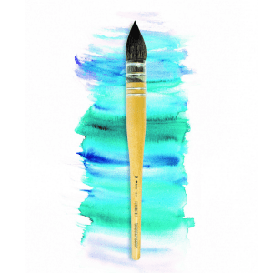 French Water Colour Brush. Lineo Edition Elke Memmler with synthetic squirrel hair. Handmade brush.