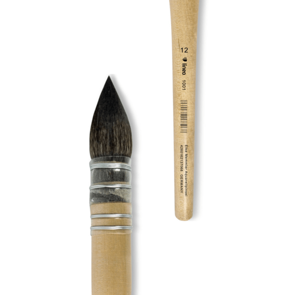 lineo French Water Color Brush. High quality handmade artist brush.