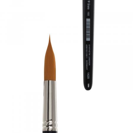Pleinair brush. Round water colour brush with synthetic hair for urban sketching. Handmade brush.