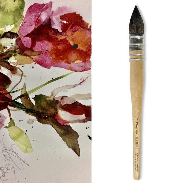 French watercolor brush - mop brush from lineo Edition Elke Memmler
