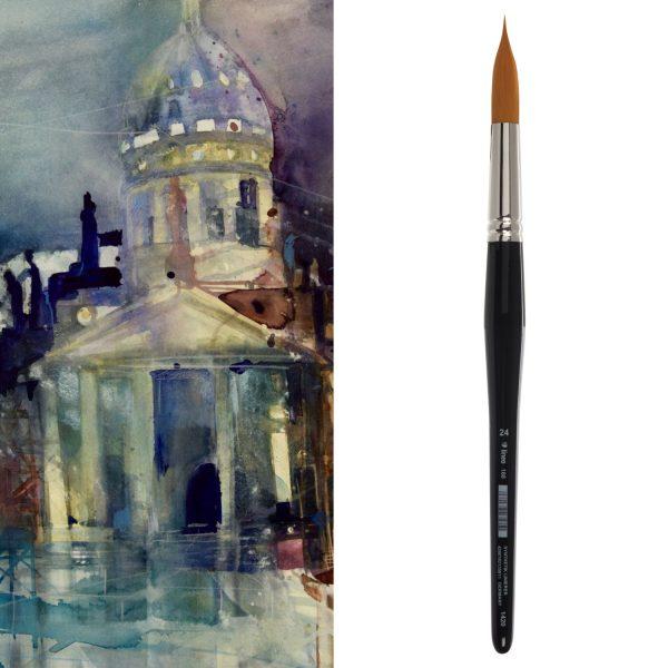 "Sharp watercolor brush ""Plein Air Brush"" / ""Liner Brush"""