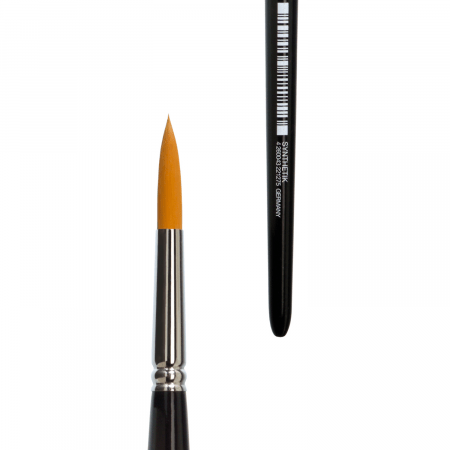 Round water colour brush lineo series 192. The brush is made in Germany.