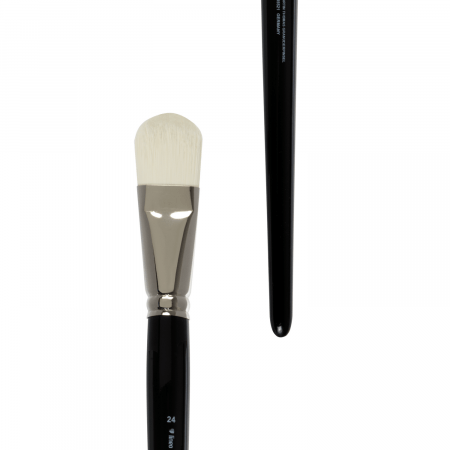 Flat artist brush for granulating technique. Artist brush made in Germany. Best for oil and acrylic colors.