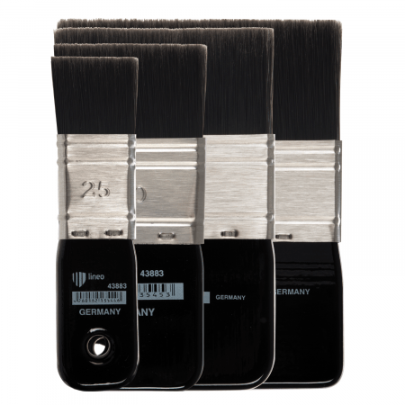 Paddle brush from lineo Edition Martin Thomas. Made in Germany. For oil and acrylic paint.