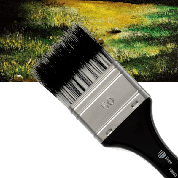 Flat artist brush for special and delicate effects. Best for oil and acrylic colours.
