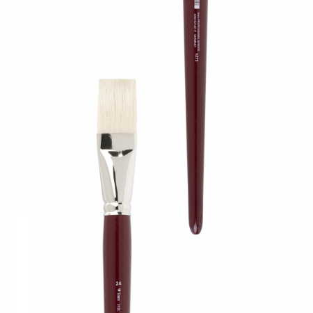 Artist Brush Chungking Bristle. Handmade at lineo in Germany. Artist brush best for oil and acrylic painting.