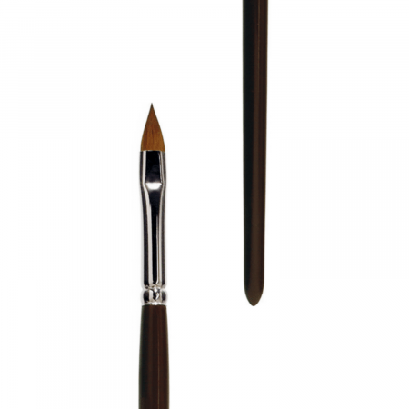 Red sable brush filbert. lineo series 388 handmade in Germany. The brush is best for oil and acrylic painting.