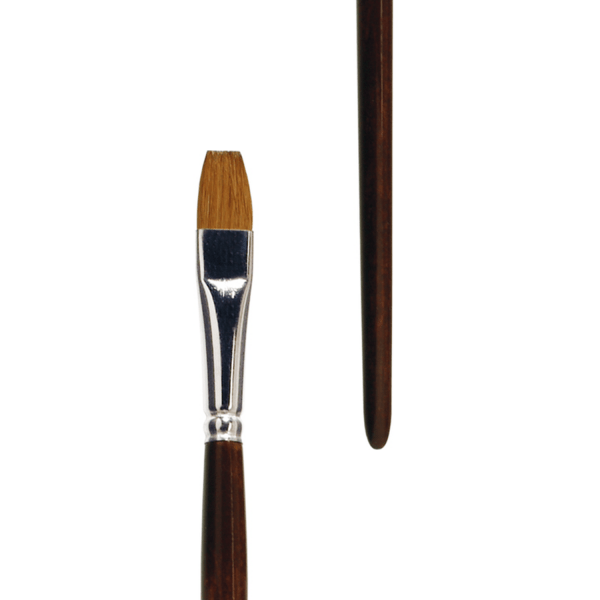 Artist Brush Red Sable. Best for acrylic painting. Long nice wooden handle. Handmade in Germany.