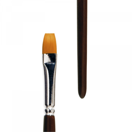 lineo flat brush series 393. Toray hair, best for oil painting and acrylic painting.