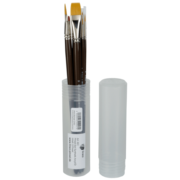 lineo Set601 for artists. Brush set for acrylic and oil paint. Professional Toray hair. Handmade in Germany at lineo.