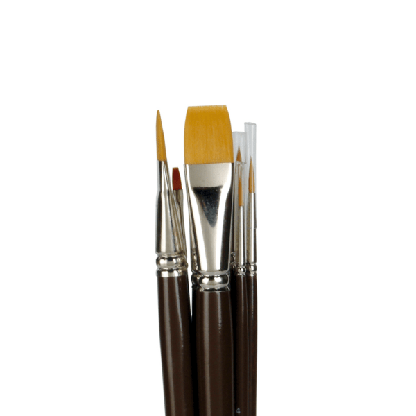 lineo Set 601 for artists. Brush set for acrylic and oil paint. Professional Toray hair. Handmade in Germany at lineo.