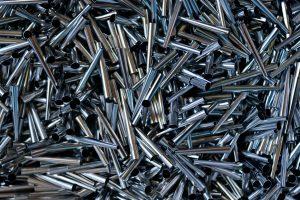 Metal ferrules for artist brush making.