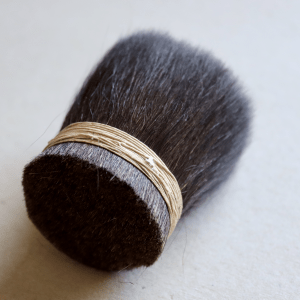 Squirrel hair is a high quality material for brush making