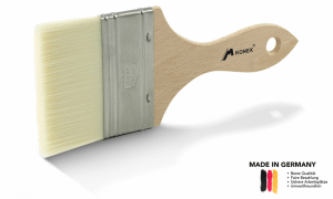 Mesko KONEX brush with natural wooden handle, stainless steel ferrule and synthetic KONEX hair.