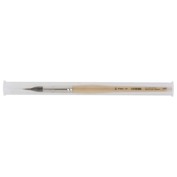 """Water color brushes sharp """"Liner"""", brush body made of pure squirrel hair, inlaid extra long tip made of selected pure kolinsky red sable hair, seamless nickel ferrules, short lacquered handles"""