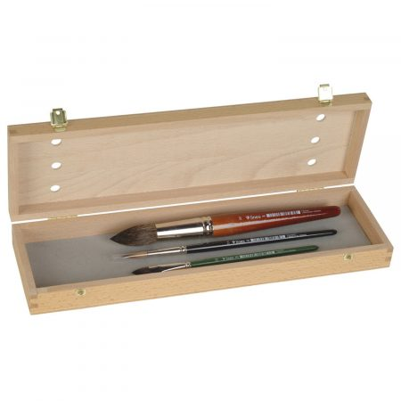 Wooden brush box (Serie 11000). For storing and transport of brushes.