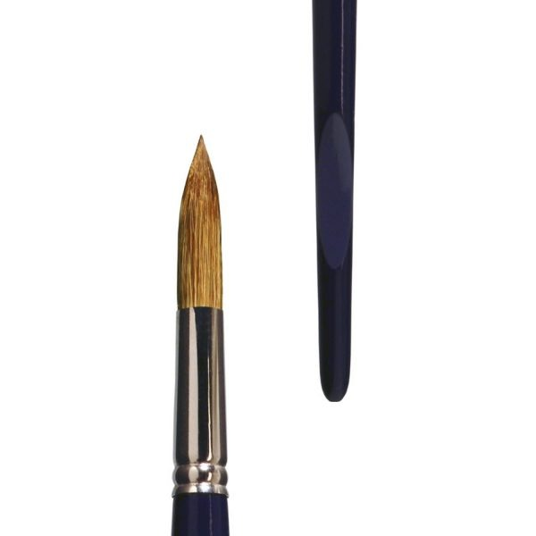 lineo special brush (Series 378) for spray technique for acrylic colors, high-quality red-sable-synthetic hair mixture, seamless nickel ferrules, long indigo-lacquered handles with special grip hollows.